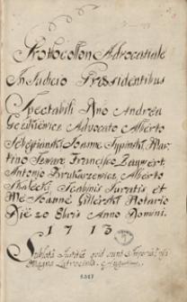 [Akta wójtowskie i radzieckie miasta Grodziska 1713-1721]