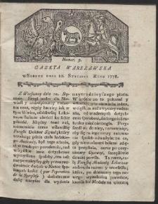 Gazeta Warszawska. R.1778 Nr 3