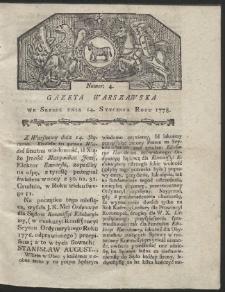 Gazeta Warszawska. R.1778 Nr 4