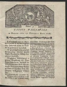 Gazeta Warszawska. R.1778 Nr 5