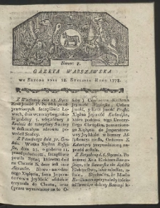 Gazeta Warszawska. R.1778 Nr 8