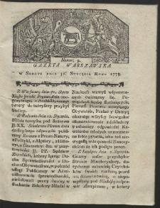 Gazeta Warszawska. R.1778 Nr 9