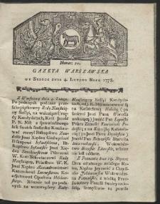 Gazeta Warszawska. R.1778 Nr 10