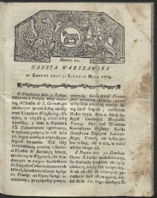 Gazeta Warszawska. R.1778 Nr 11