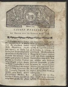 Gazeta Warszawska. R.1778 Nr 12