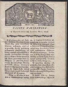 Gazeta Warszawska. R.1778 Nr 17