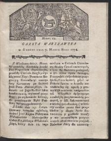 Gazeta Warszawska. R.1778 Nr 19