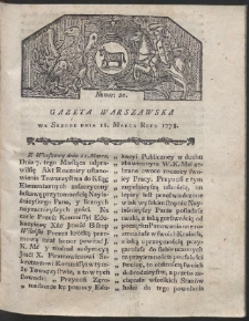Gazeta Warszawska. R.1778 Nr 20