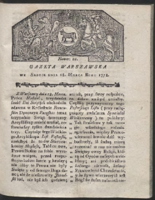 Gazeta Warszawska. R.1778 Nr 22