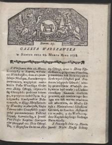 Gazeta Warszawska. R.1778 Nr 25