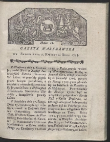 Gazeta Warszawska. R.1778 Nr 26