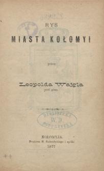 Rys miasta Kołomyi