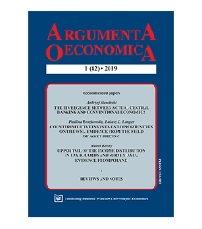 Józef Dziechciarz (ed.): Econometrics. Ekonometria. Advances in applied data analysis. WUE 2018, vol. 22, no 3