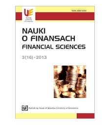 Table of contents [Nauki o Finansach = Financial Sciences, 2013, Nr 3 (16)]