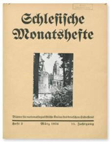 Schlesische Monatshefte : Blätter für Nationalsozialistische Kultur des Deutschen Südostens. 11. Jahrgang, März 1934, Nummer 3