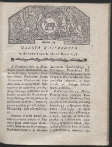 Gazeta Warszawska. R.1778 Nr 35