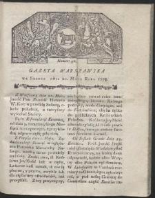 Gazeta Warszawska. R.1778 Nr 40