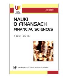 Spis treści [Nauki o Finansach = Financial Sciences, 2015, Nr 4 (25)]