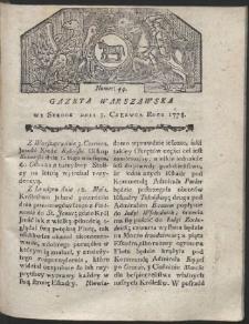 Gazeta Warszawska. R.1778 Nr 44