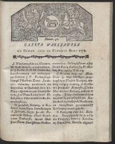 Gazeta Warszawska. R.1778 Nr 46