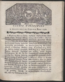 Gazeta Warszawska. R.1778 Nr 51