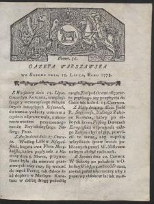 Gazeta Warszawska. R.1778 Nr 56