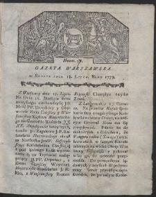Gazeta Warszawska. R.1778 Nr 57