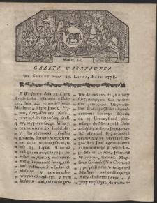 Gazeta Warszawska. R.1778 Nr 60