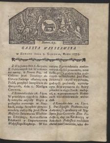 Gazeta Warszawska. R.1778 Nr 63