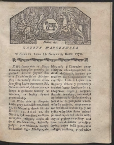 Gazeta Warszawska. R.1778 nr 65