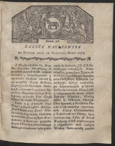 Gazeta Warszawska. R.1778 Nr 66