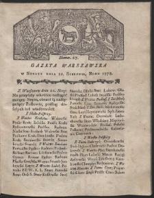 Gazeta Warszawska. R.1778 Nr 67