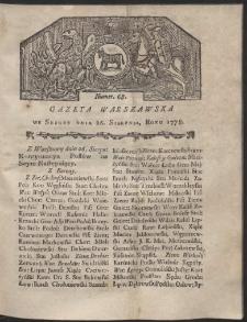 Gazeta Warszawska. R.1778 Nr 68