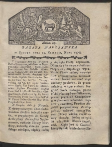 Gazeta Warszawska. R.1778 Nr 69