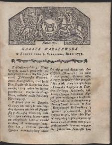 Gazeta Warszawska. R.1778 Nr 71