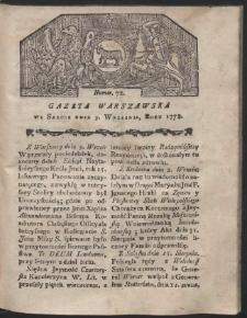 Gazeta Warszawska. R.1778 Nr 72
