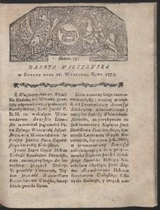 Gazeta Warszawska. R.1778 Nr 77