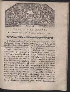 Gazeta Warszawska. R.1778 Nr 78