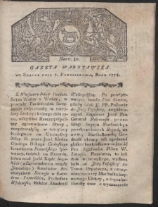 Gazeta Warszawska. R.1778 Nr 80