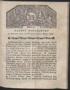 Gazeta Warszawska. R.1778 Nr 81