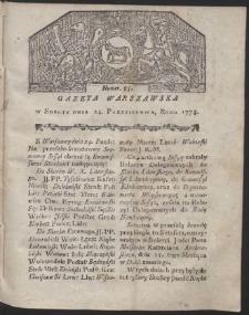Gazeta Warszawska. R.1778 Nr 85