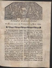 Gazeta Warszawska. R.1778 Nr 86