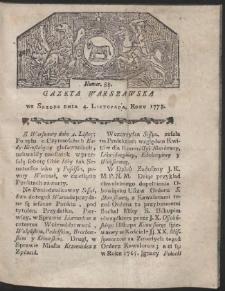 Gazeta Warszawska. R.1778 Nr 88