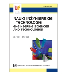 Spis treści [Nauki Inżynierskie i Technologie = Engineering Sciences and Technologies, 2013, Nr 3 (10)]