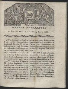 Gazeta Warszawska. R.1778 Nr 97