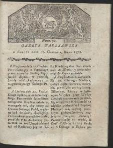 Gazeta Warszawska. R.1778 Nr 99