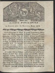 Gazeta Warszawska. R.1778 Nr 100