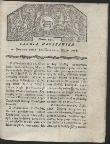 Gazeta Warszawska. R.1778 Nr 103