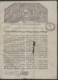 Gazeta Warszawska. R. 1779 Nr 1