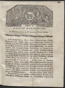 Gazeta Warszawska. R. 1779 Nr 3